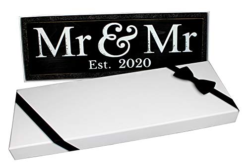 mr and mr wooden sign