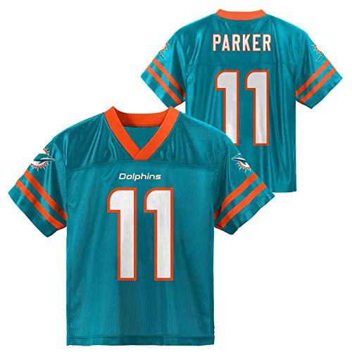 Outerstuff Devante Parker Miami Dolphins #11 Youth 8-20 Aqua Home Player Jersey (18-20)