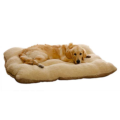 AcornPets B-103 Extra Large XXL Brown Dog Cat Bed Pet Pillow Mattress Fleece 120 x 80 CM For Large Dogs, Using Berber Fleece and Suede Nap, Detachable and Washable