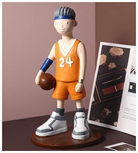 sknonr Basketball-Junge Figur Puppe, Cartoon Modell, kreative Puppe Dekoration, Desktop-Dekoration-Geschenk (Color : C)