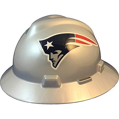 MSA 10194773 NFL V-Gard Full Brim Hard Hat, New England Patriots