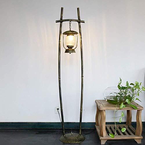 LDDBD Moderne en eenvoudige eenvoudige landelijke woonkamer slaapkamer restaurant cafe lamp warm ijzer kerosin lamp lantaarn staande lamp Grootte: 330 * 1610Mm A +,koper, A