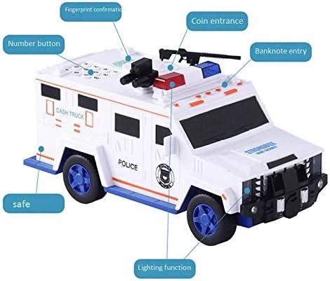 Yebobo Digital Piggy Bank Kids Toy Money Box Saving Deposit Boxes Electronic Tirelire Enfant Children Cash Car Coin Safe Truck White