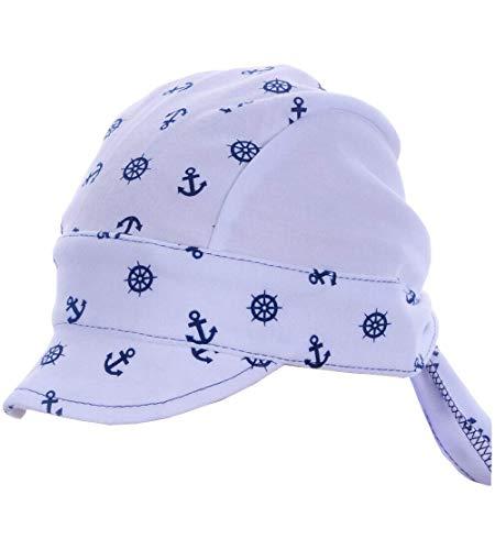 La Bortini Kopftuch Baby Kinder Sommer Mütze Mützchen Kopfbedeckung Bandana 40-54 cm KU (weiß)