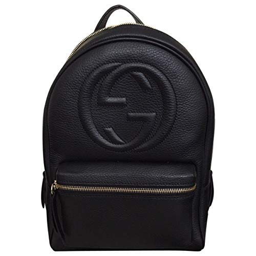 Gucci Soho Black Backpack Calf Leather Backpack Ladies Bag Italy New