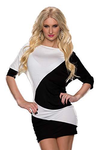 Luipaard & WRL Dames Long Top Bovendeel 2 gekleurde blouse met lange mouwen