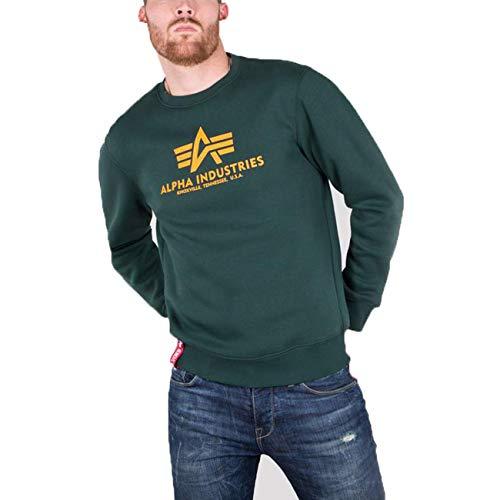 ALPHA INDUSTRIES Herren Basic Sweater Sweatshirt, Dark Petrol, 37.13