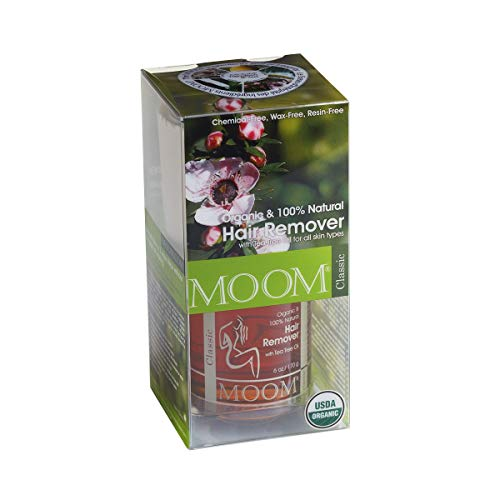 MOOM Organic Hair Removal Kit, Tea Tree, 6-Ounce Package (MST)