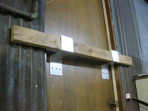 Drop Bar Security Door Lock Brackets Fits 2x4 Boards 4'wide 1 Pair