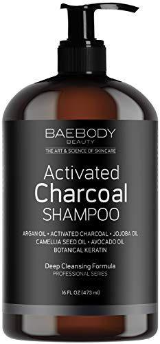 Baebody Activated Charcoal Shampoo with Keratin, 16 Ounces
