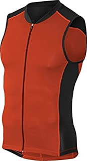 Kona Men's Triathlon Vest Jersey Tank Top - Full Zipper, Tri Singlet Sleeveless, 2 Rear Pockets for Storage