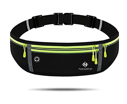 Natseekgo Running Waist Packs Adjustable Running Belt for Women Men with...