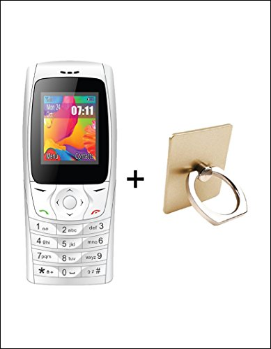 IKALL 18 inch Display K6610 White Feature Mobile with Ring