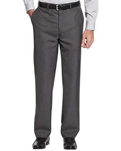 Calvin Klein Men's Slim Fit Flat Front Dress Pants 33W x 30L Dark Grey