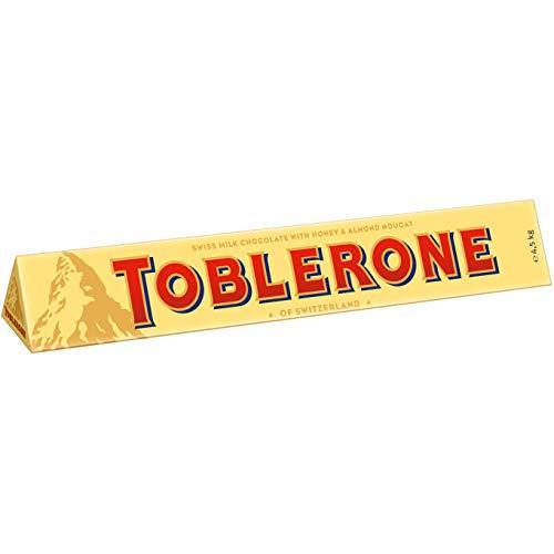 Toblerone Schokolade 1 x 4,5kg, Feine Schweizer Milchschokolade mit Honig- und Mandelnougat