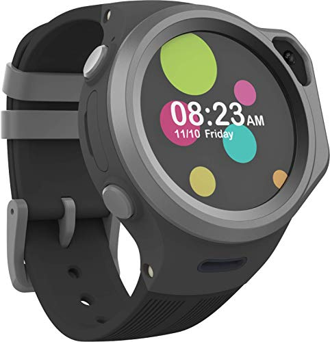4G対応 myFirst Fone R1マイ ファーストフォンアールワン キッズ腕時計型お見守りスマートフォン 1.3TFT/音声ビデオ通話/MP3内蔵/200万画素/GPS追跡/専用アプリ/IPX7防水防塵/48時間待機/耐衝撃設計 Ninja/Black