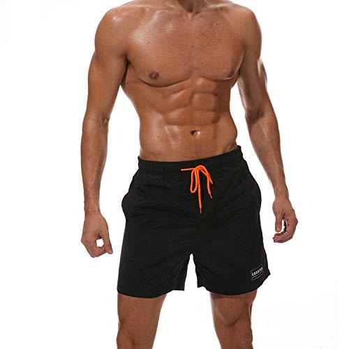 Everthing-tone-watersports Mens Swimwear Swim Shorts Beach Board Shorts Swimming Short Pants,Black,M,Russian Federation