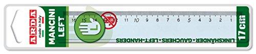 Arda 28917Man regla para zurdos, 17cm, Left