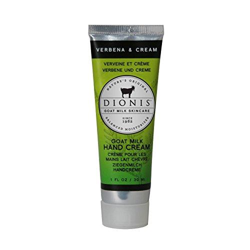 DIONIS Goat Milk Skincare Handcreme Verbene | 30ml Natürliche Handpflegecreme mit Ziegenmilch | Leichte Handbalsam Alternative für trockene Hände