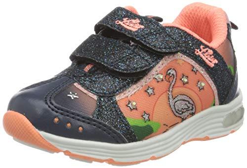 Lico Mädchen Flamingo V Blinky Sneaker, Blau (Marine/Lachs), 28 EU