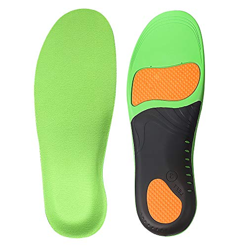Arch Support Insoles for Men and Women Shoe Inserts - Orthotic Inserts - Flat Feet Foot - Running Athletic Gel Shoe Insoles - Orthotic Insoles for Arch Pain High Arch - Boot Insoles ((XL) Men 11.5-13)