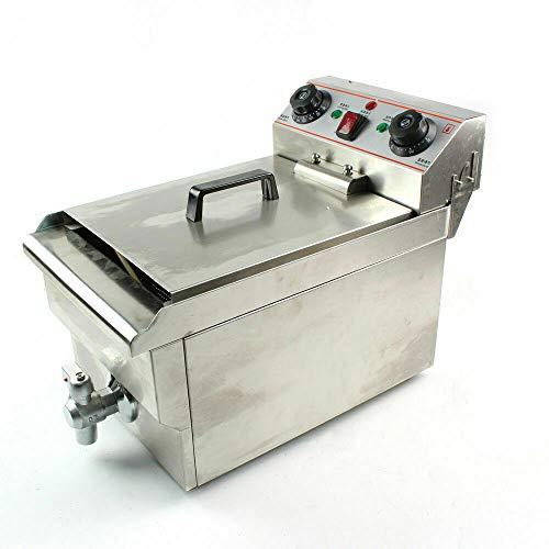 Freidora eléctrica multifuncional, 220 V, 3000 W, equipo de freidora eléctrica para la gastronomía, acero inoxidable, 10 l