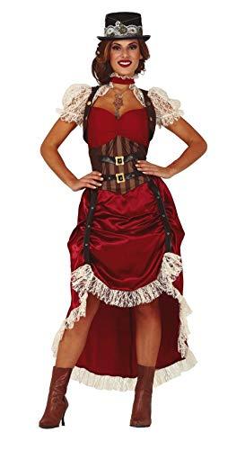 Fiestas Guirca Gotisches viktorianisches Frau Steampunk Kostüm