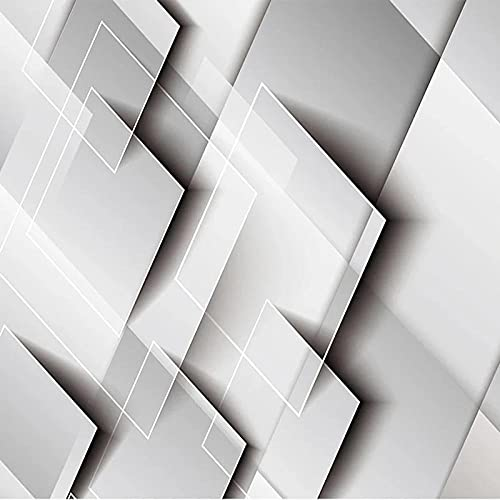 Custom Wallpaper Modern Geometric Gradual Change Square Splicing Grey Murals Living Room Tv Sofa Bedroom Backgorund -150 * 105 Cm.
