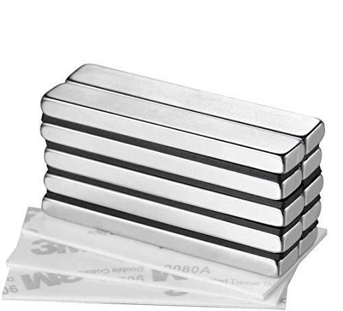 Wukong 10 Stück starker magnet Neodym Magnete, Super Stark Kräftig Neodym Viereckig Ziegel Magnete-60 x 10 x 5MM, Seltenerdmagnete sehr starker Haftung für Glas-Magnetboards, Magnettafeln.