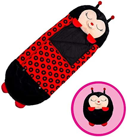 RNICE Fun Sleeping Bag Happy Play Napper Plush Animal Pillow 2in1 Portable Cute Cartoon Sleeping Bag Pillow Thickened Warm Blanket for Children,137x50cm