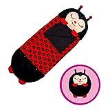 "Happy Nappers Pillow & Sleepy Sack- Comfy, Cozy, Compact, Super Soft, Warm, All Season, Sleeping Bag with Pillow- Medium 54"" x 20"", Ladybug"