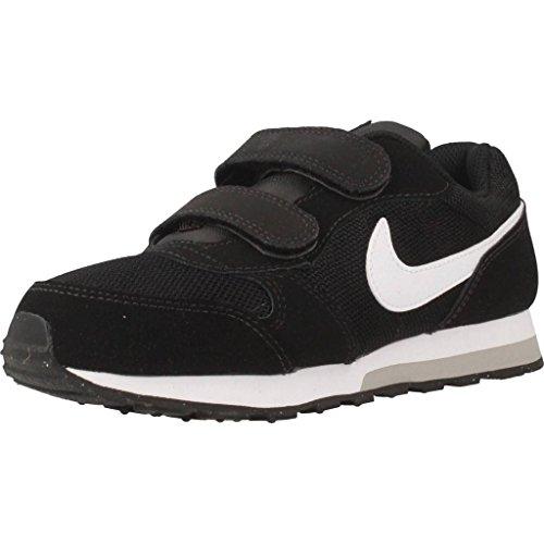 Nike Md Runner 2 (Psv) Low-Top, Schwarz (Black/White-Wolf Grey), 35 EU