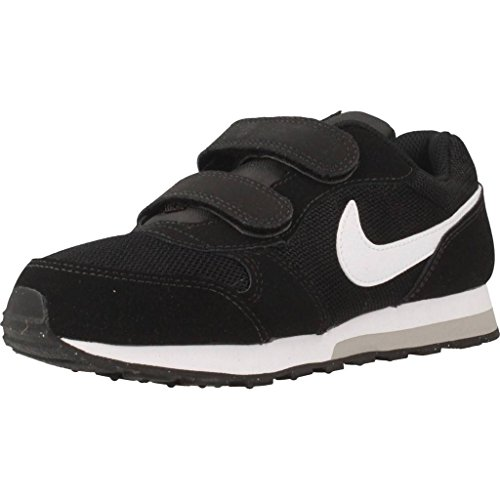 Nike Jungen Md Runner 2 (Psv) Low-Top, Schwarz (Black/White-Wolf Grey), 35 EU