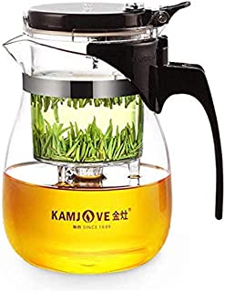 Kamjove TP-757 Glass Gong Fu Tea Maker Press Art Cup Teapot with Infuser