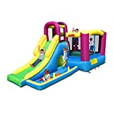 SHY Castle Bouncer con tobogán Castle House Casa Hinchable para Fiestas de niños con soplador de Aire de Grado Comercial Incluido para niños al Aire Libre Castillo Hinchable Inflable