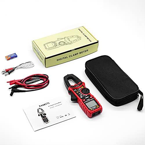KAIWEETS6000カウント自動レンジクランプメーターテスターAC|DC電流AC|DC電圧T-RMS静電容量抵抗ダイオード温度導通NCV機能付き測定日本語説明書三年保証期間付き(HT206D)