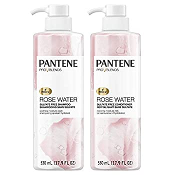 Pantene Shampoo and Sulfate Free Conditioner Kit Paraben and Dye Free Pro-V Blends Soothing Rose Water 17.9 fl oz Twin Pack
