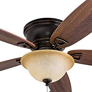 "Honeywell 50517-01 Quick-2-Hang Hugger Ceiling Fan, 52""..."