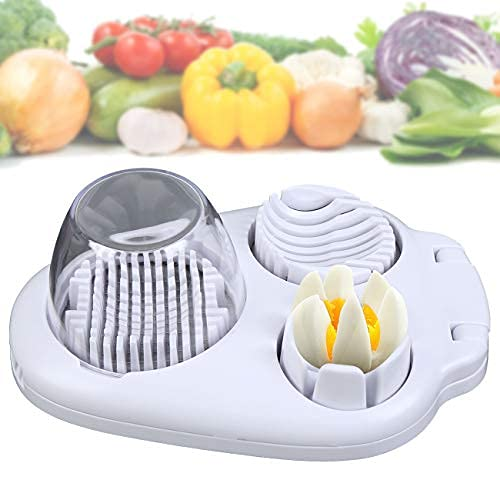 3 in 1 Multi Egg Slicer,wedger,Dicer Food Grade Kitchen Tool with Mini Clear Bowl