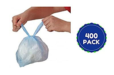 Baby Diaper Disposal Bags Handle Tie Close Sacks Seals in Wetness and Bacteria W Fresh Baby Powder Super Value Pack 400 Ct