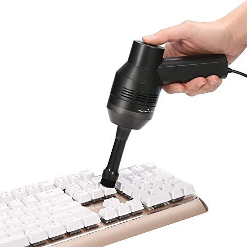 MECO Mini Aspirador de Teclado para Ordenador Aspiradora Portátil Recargable con Li-batería Aspirador con Gel para Coche, Mesa, Escritorio, Sofá, Laptop, Migas, Virutas de lápiz, Cabello (Cable USB)