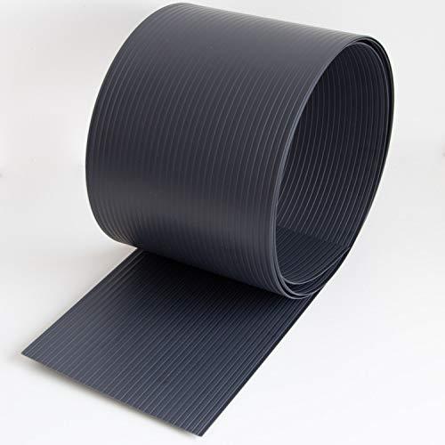 10 Stk Premium Stabmattenzaun Sichtschutzstreifen Hart-PVC Streifen in Grau - anthrazit, 19cm hoch, 252,5cm lang. Zubehör zum Verkleiden von Doppelstabmattenzäunen und Einzelstabmattenzäunen