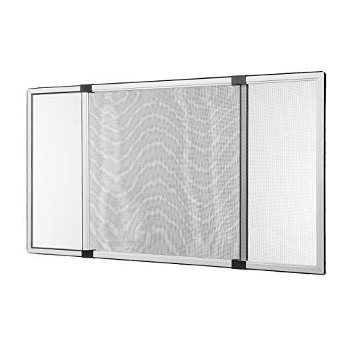 Insektenschutz Schiebe Fenster Fliegengitter Mückenschutz weiss (75 x 100 cm)