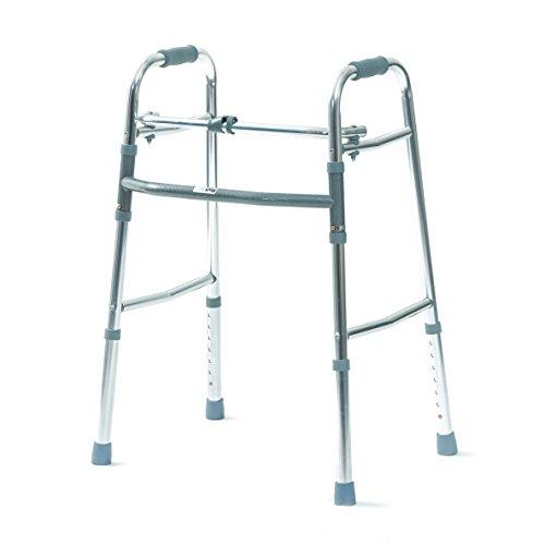 Days Einstellbare Folding Gehhilfe, Leicht & Adjustable Mobilitätshilfe für Senioren, Behinderte, Behinderte oder Verletzter, rutschfeste Gummikappen, Folding Walker