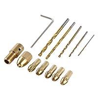 WL-DIY001ミニDIY真鍮電気ドリルチャックドリルビットセット 高硬度