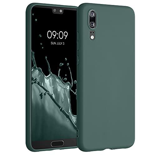 kwmobile Custodia Compatibile con Huawei P20 - Cover in Silicone TPU - Back Case per Smartphone - Protezione Gommata Verde Blu