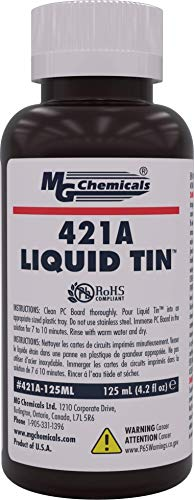 MG Chemicals 421A Liquid Tin, Tin Plating Solution, 125mL Bottle