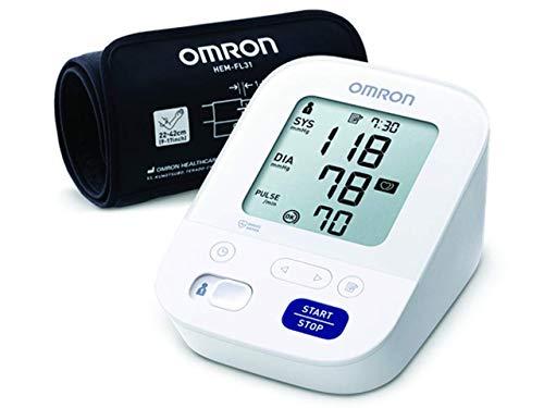 OMRON - Oberarm-Blutdruckmessgerät, Modell M3 Comfort HEM-7155-E, IntelliWrap-Manschette 22-42 cm, Intellisense-Technologie, Klinisch validiert, Blutdruck und Puls, AA -Batterien und Tasche