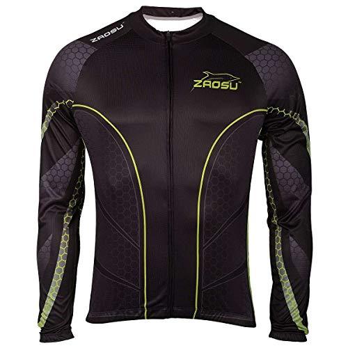 ZAOSU Z de Breeze Bike – T-Shirt Maillot de Cyclisme à Manches Longues, L
