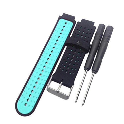 Pulseira de silicone/pulseiras de substituição para mulheres/homens para Garmin Forerunner 220 230 235 620 630 735 Fitness Tracker